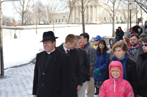 After the 2014 March For Life touring the Capitol
