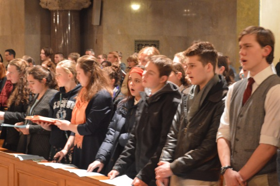 lyceum in crypt chapel at national roasary for life