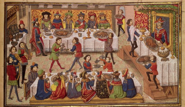 Image result for christmas feast medieval